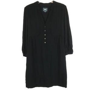 Maeve Black Shift Tunic Dress 3/4 Sleeve Size M